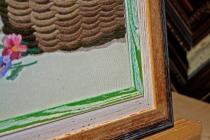 Использование внутреннего багета в качестве паспарту. Музейное безбликовое стекло.