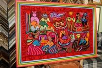 Панно из Перу в раме из тройного деревянного багета с музейным безбликовым стеклом