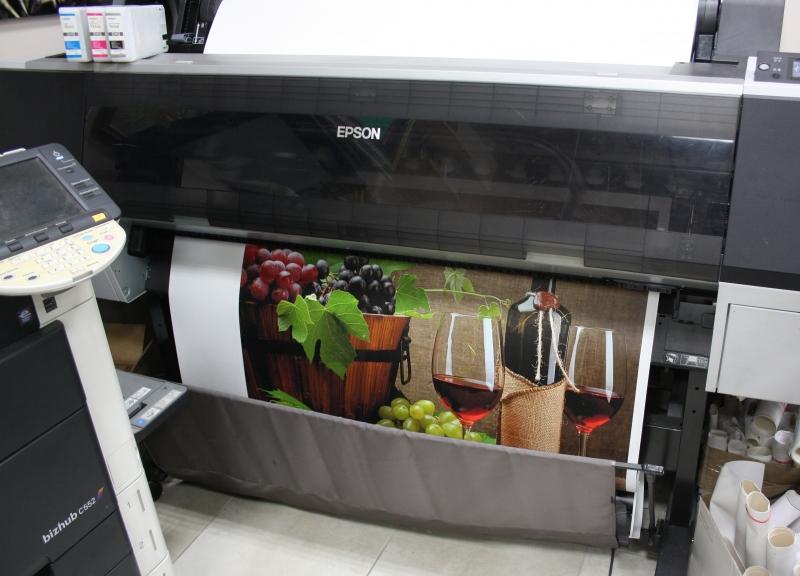 Процесс печати на холсте Epson Satin Canvas