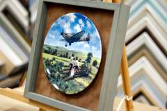 framed plate Heroes of the sky