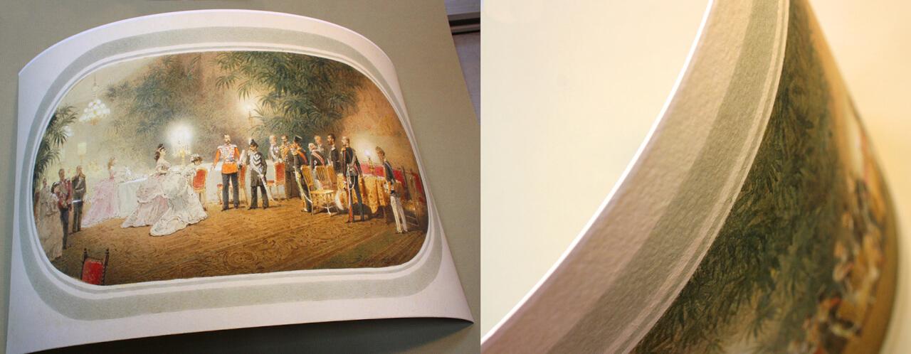печать на текстурной акварельной бумаге