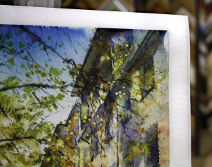 Печать жикле на акварельной бумаге