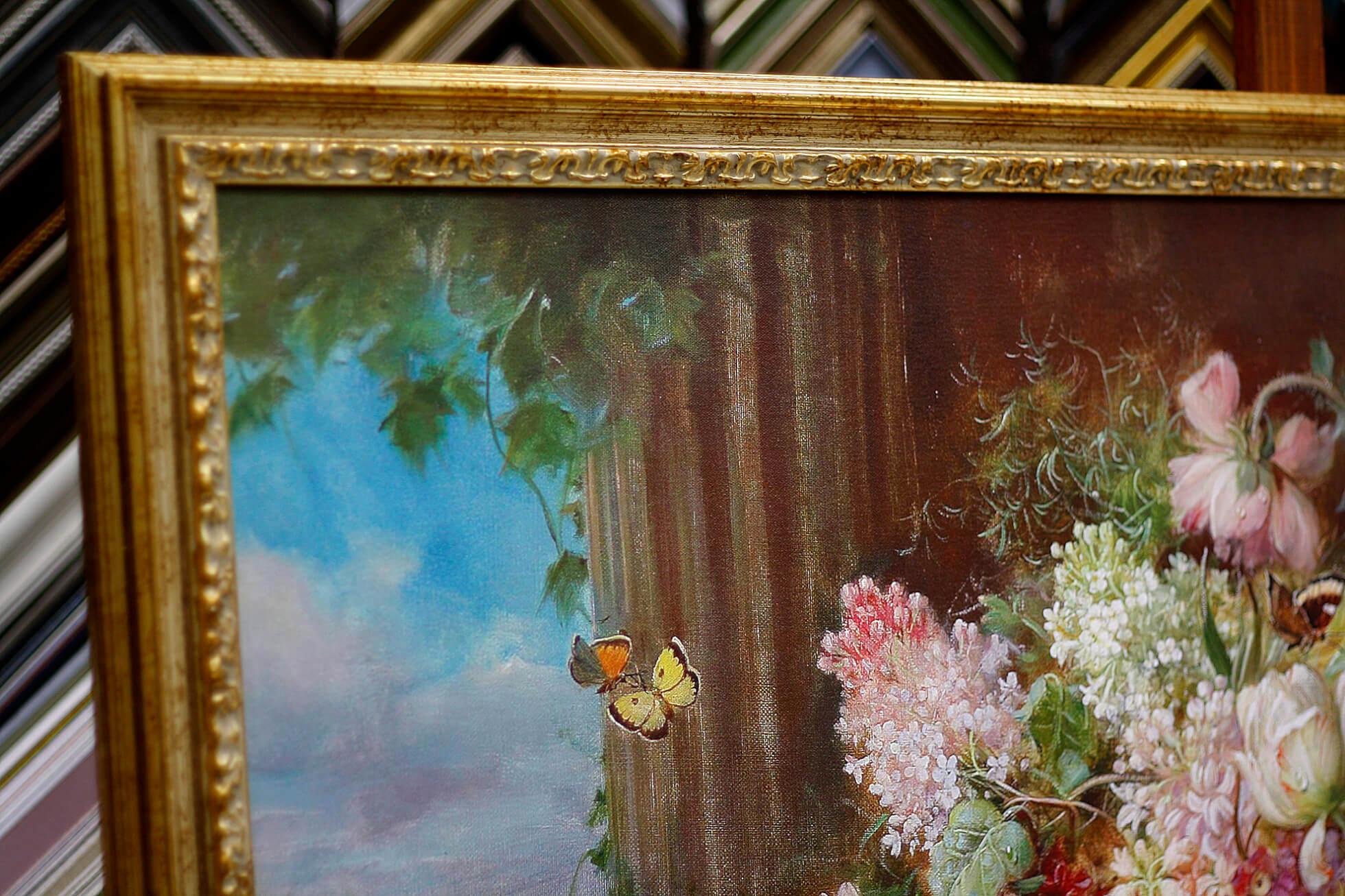 Печать картин на холсте Epson с багетной рамрй